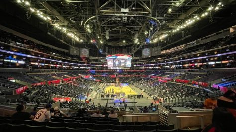Staples Center enforces strict rules to ensure the safety of fans and players during games. (Photo by Aidan Sun)