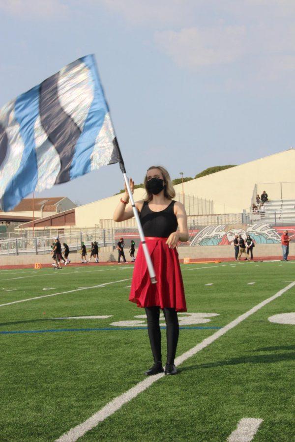 Marching Band and Color Guard Keep the Beat at Football Games